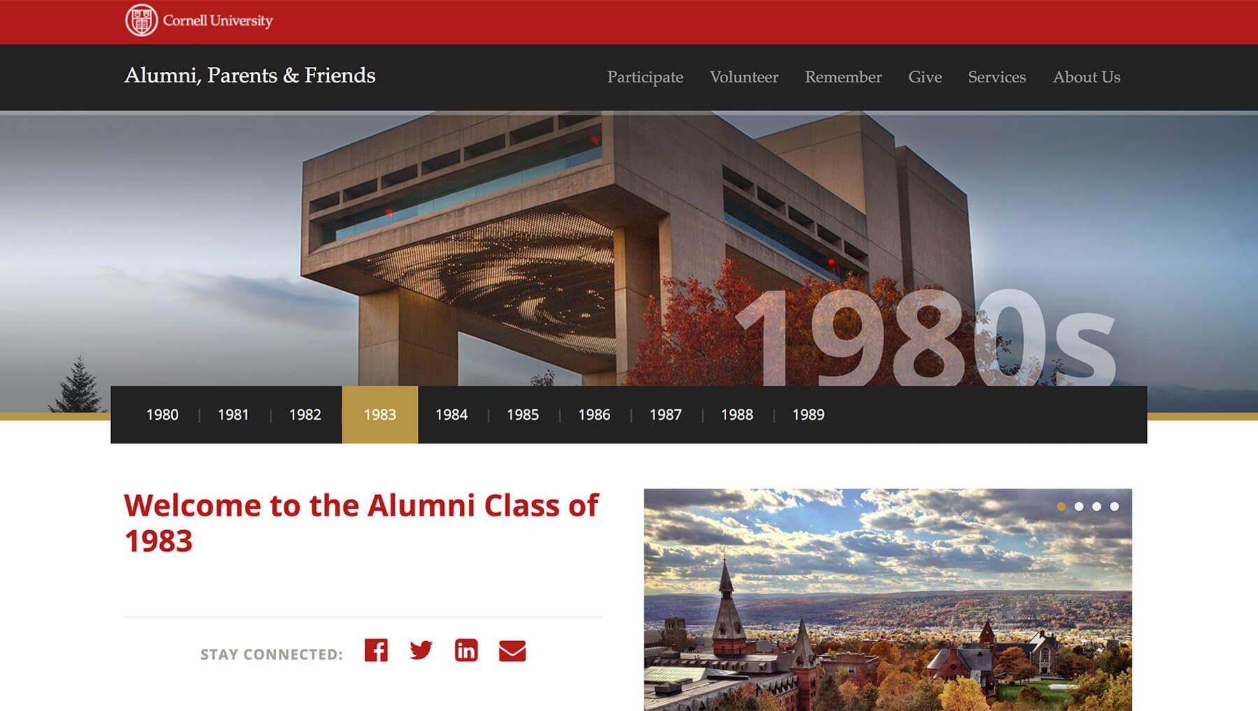 Cornell Alumni Class of 1983 page