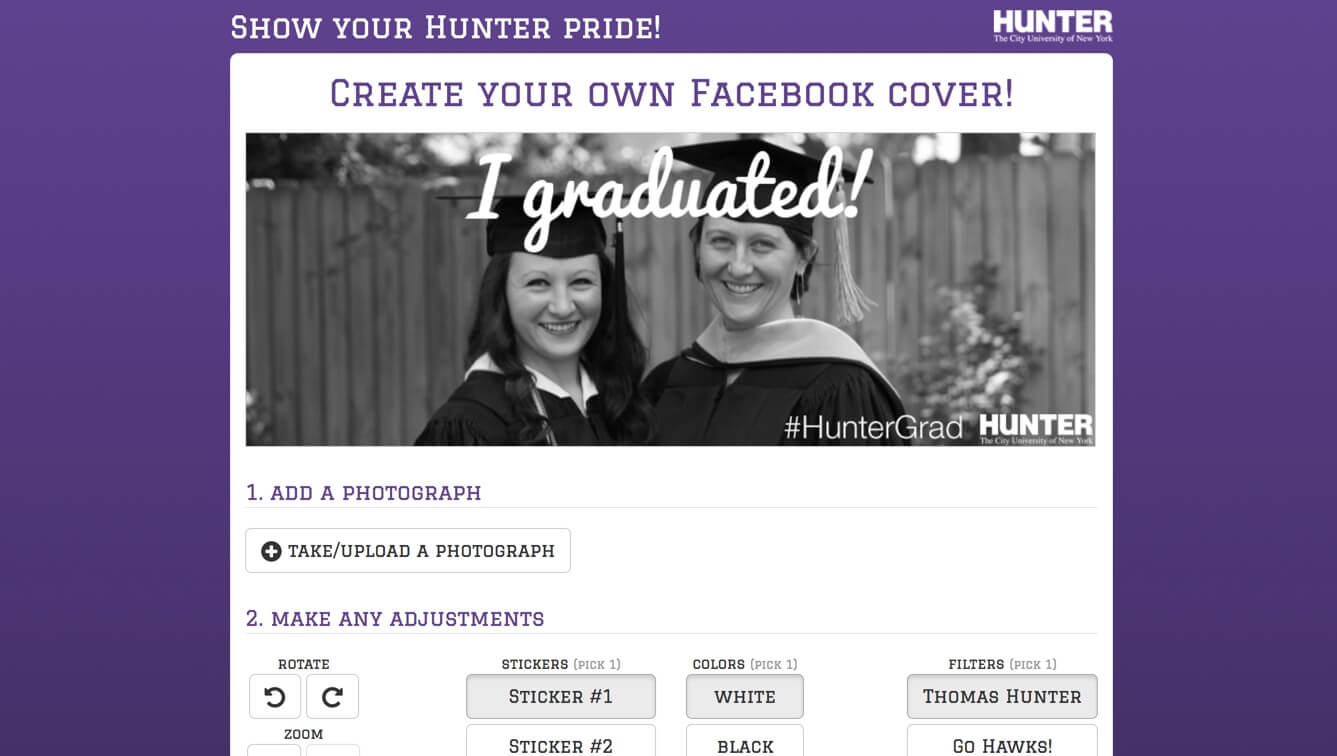Hunter College Facebook covers app