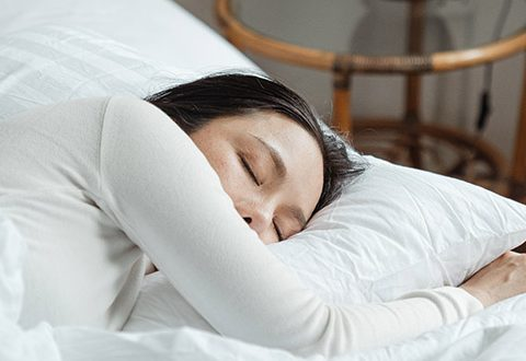 Young woman having improved her sleep quality